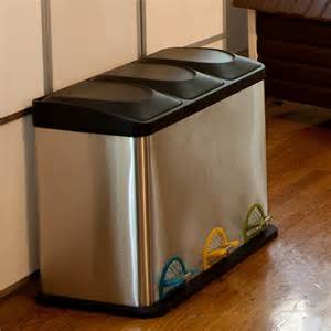 Decorative Recycling Containers For Home by Organize It All Step On 11 89 Gallon Stainless Steel