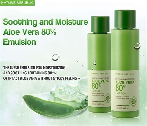 Nature Republic Soothing And Moisture Aloe Vera Emulsion soothing moisture aloe vera 80 emulsion
