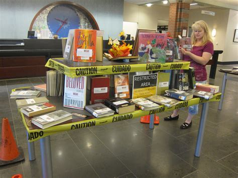 picture book display banned books week wrap up alsc