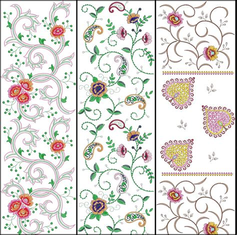 embroidered allover design embdesigntube fresh allover jaal embroidery designs