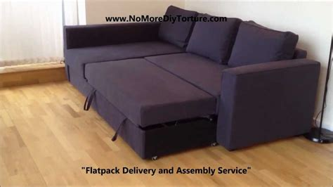 ikea sofa bed with storage ikea manstad corner sofa bed with storage v2 youtube