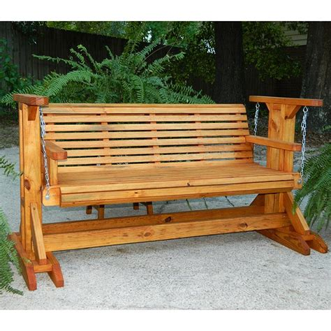 Wooden Bench Swing Sets Southern Swings Rollback Stained Most Comfortable Porch Glider