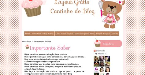 layout no blog layout gr 225 tis para blog de doces e culin 225 ria em geral