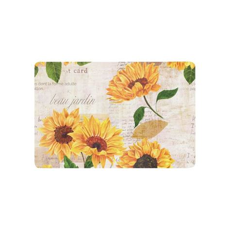 sunflower kitchen sunflower kitchen mat promotion shop for promotional