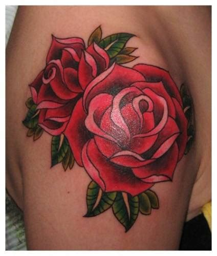 red rose tattoo shoulder flowers tattoos on shoulder