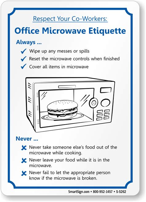 Office Pantry Etiquette keep kitchen clean signs kitchen courtesy signs