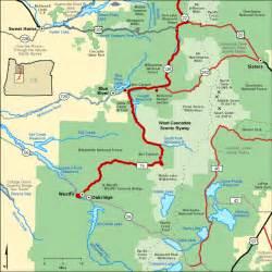 oregon scenic drives map aufderheide scenic highway highway 19