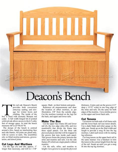 deacon bench plans deacons bench plans 28 images deacon s bench by