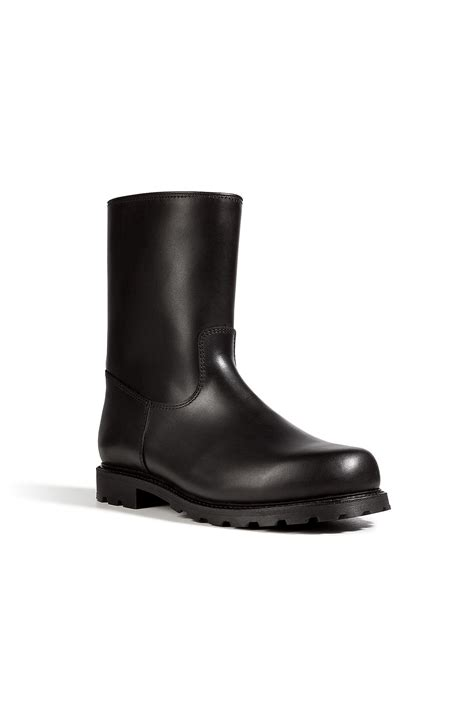half boots mens ludwig reiter leather half boots in black in black for