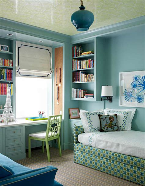 teenage bedroom wall colors spa blue paint color contemporary girl s room