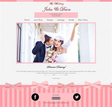 desain undangan pernikahan tema bola pin by datangya com undangan pernikahan online on datangya