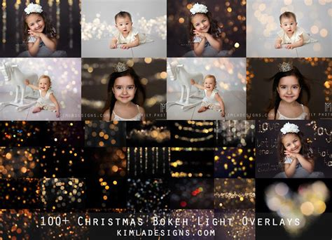 free download christmas light action for photoshop 100 gold bokeh overlays free gift kimla designs
