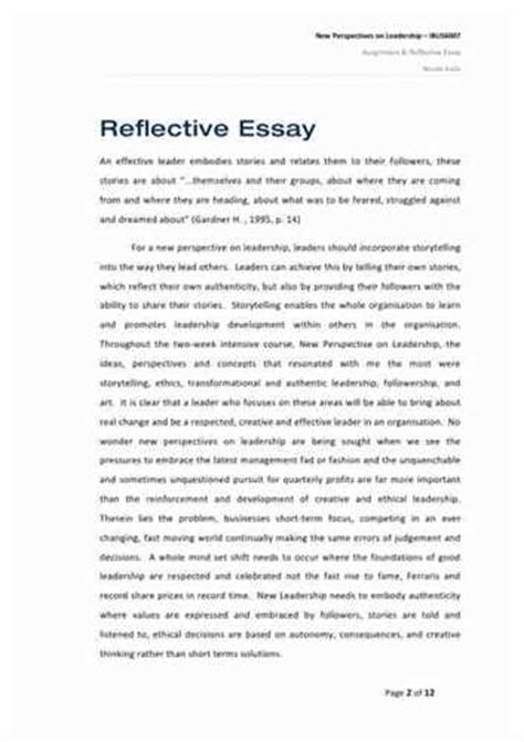 Personal Reflection Essay by Leadership Essay Exle For Your Successful Studies