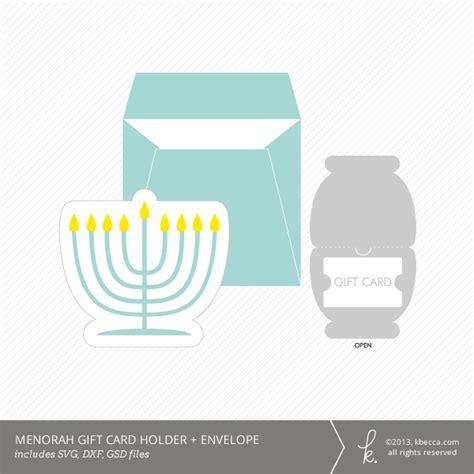 Envelope Gift Card Holder - hanukkah menorah gift card holder envelope die cuts