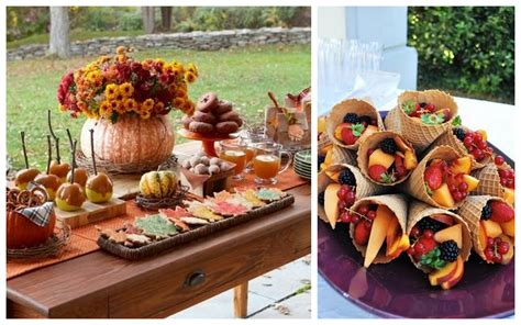 theme wedding shower menu photo fall bridal shower ideas image