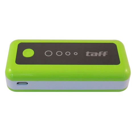 Power Bank Taff taff power bank 5200mah model mp5 for tablet and smartphone mp5 green with white side