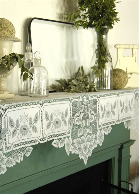fireplace mantle scarf heirloom mantle scarf heritage lace home