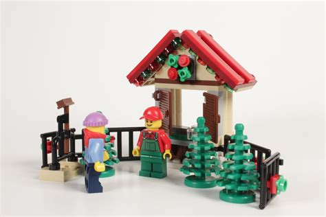 review lego 40082 christmas tree stand bricknerd