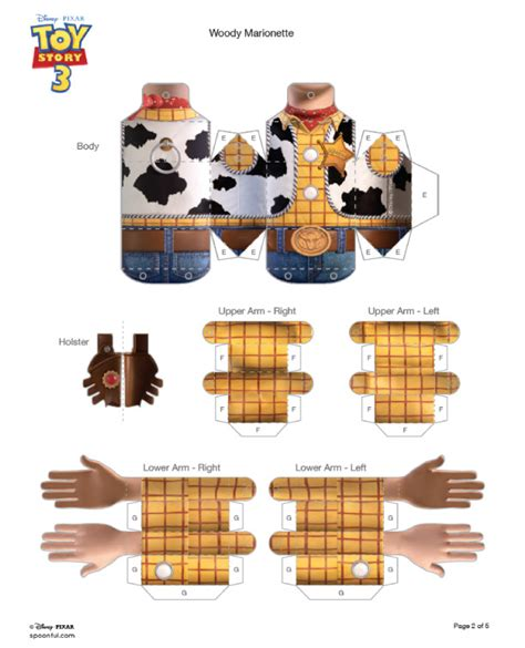 Story Papercraft - marionnette woody en papertoy paper fr