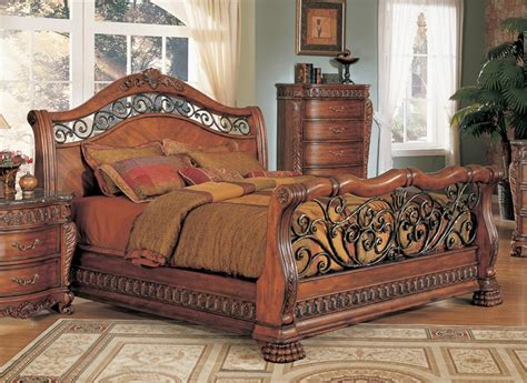 jasper luxury king cherry sleigh bed marble 5 pc bedroom 28 marble bedroom set eastlake 3 piece marble top