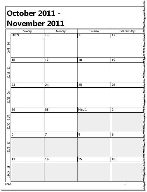 printable weekly outlook calendar printing a five week calendar
