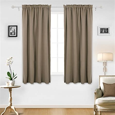 Deconovo Room Darkening Curtains Thermal Insulated Rod Thermal Kitchen Curtains