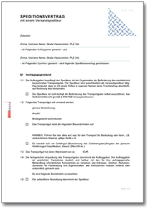 Word Vorlage Jubiläum Speditionsvertrag De Vertrag