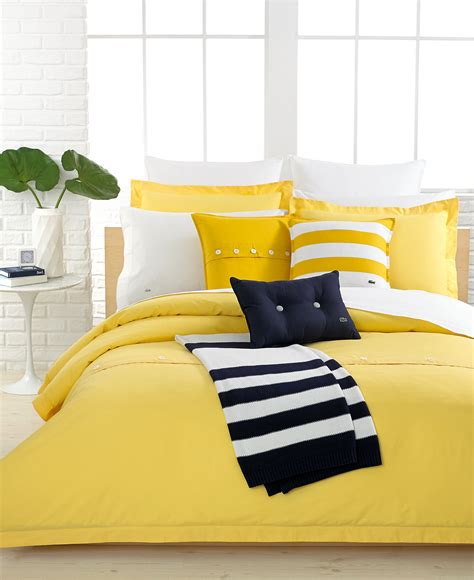 Solid Yellow Comforter by Lacoste Solid Lemon Drop Brushed Twill Comforter And Duvet