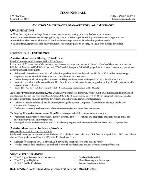 Aviation Safety Manager Sle Resume by Notable Keywords Aviation Maintenance Manager Cover Letter Exles Images Frompo