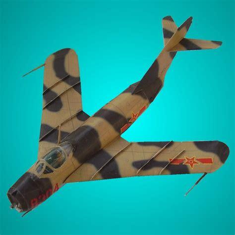 Papercraft Jet - fighter jet papercraft mig 17
