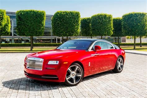 rolls royce black ruby rolls royce wraith with two tone appearance in red and black