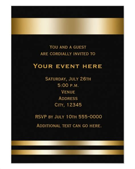 formal business invitation card template 50 printable dinner invitation templates psd ai free