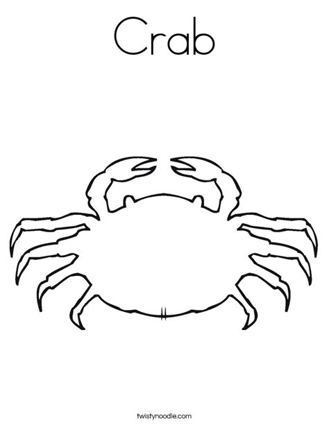 easy crab coloring page free coloring pages of outline of a crab