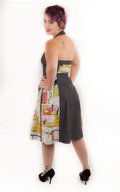 Stripi Polki Dress Hq 44 best perfectpear fashions images on black halter dresses comic books and comic