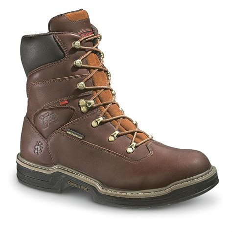 s work boots s wolverine 174 8 quot waterproof multishox 174 steel toe