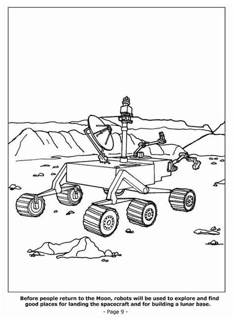 Dibujo para colorear Robots descubriendo la luna - Dibujos