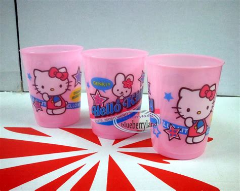 Hello Cup Plastik 3 pcs sanrio hello plastic cups mug cup
