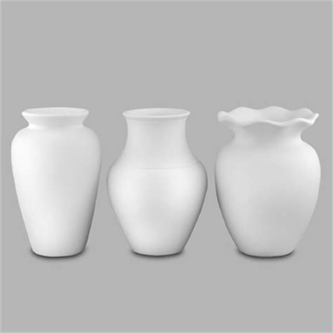 Bathroom Vase by Mb Pottery Bisque Home Decore Bathroom Vases