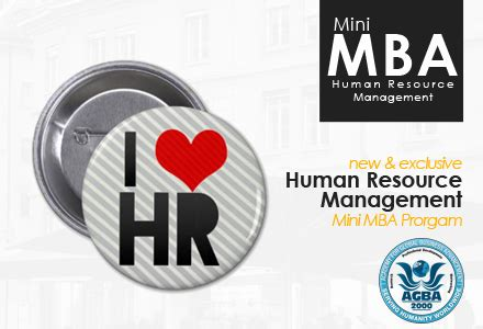 Mba Resource Management by Mini Mba In Human Resource Management Lebanon