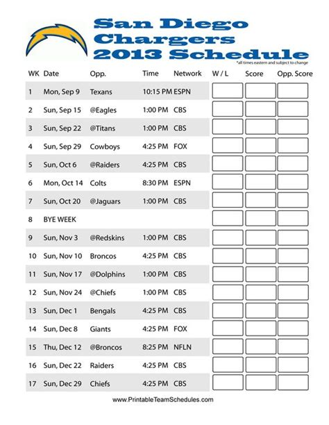 charger schedule san diego san diego chargers schedule and san diego