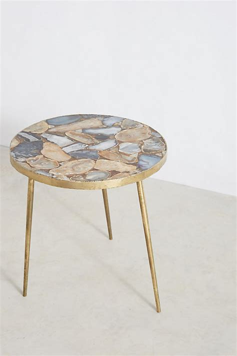 agate end table anthropologie