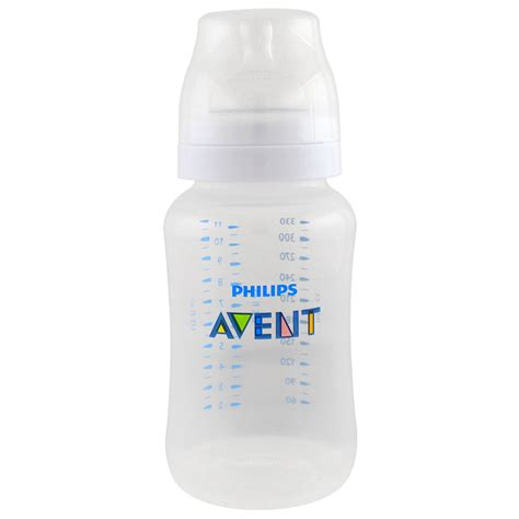 Avent Classic Bottle 3x125ml Anti Colic philips avent anti colic bottle 3 months 1 wide neck bottle 11 oz 330 ml iherb