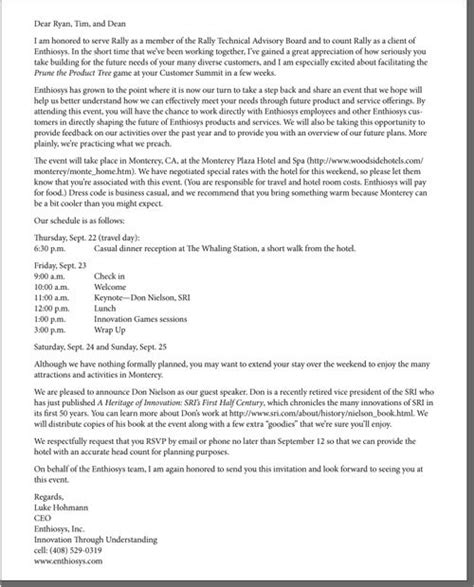 thank you letter for business dinner invitation invitation to board of directors for dinner