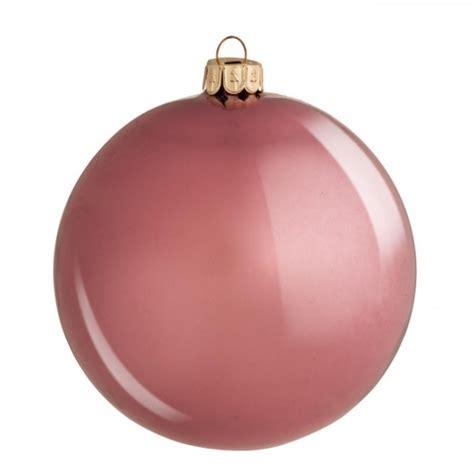 bola 225 rbol de navidad cristal lisa rosa brillante 10 cm