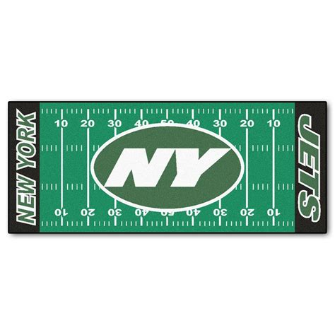 Kitchen Faucets Kansas City Fanmats New York Jets 2 Ft 6 In X 6 Ft Football Field