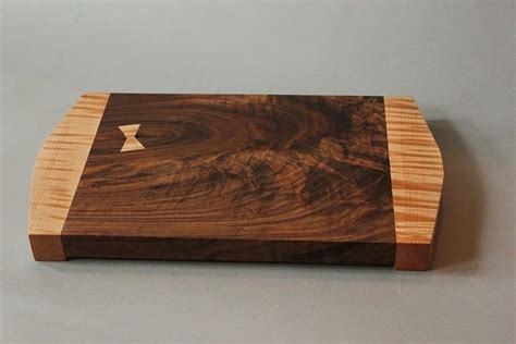 Handmade Cutting Boards - handmade walnut and curly maple cutting board by eric