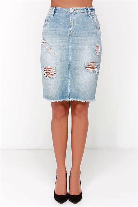 dittos skirt pencil skirt distressed skirt