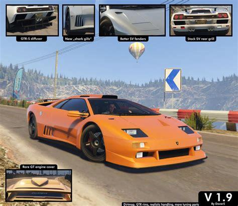 Lamborghini Diablo Gtr by Lamborghini Diablo Gtr Add On Tuning Template Gta5