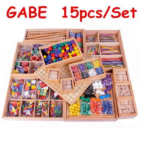 Promo Bagus Mainantool Set 15pcs froebel baby toys 15pcs set gabe wooden toys free shipping teaching educational early