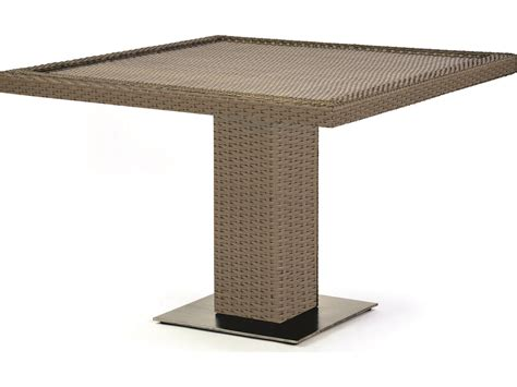 Square Pedestal Dining Table Caluco 10 Tierra Wicker 42 Square Pedestal Dining Table 829 D42
